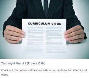 test CV