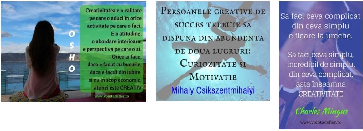 persoane creative