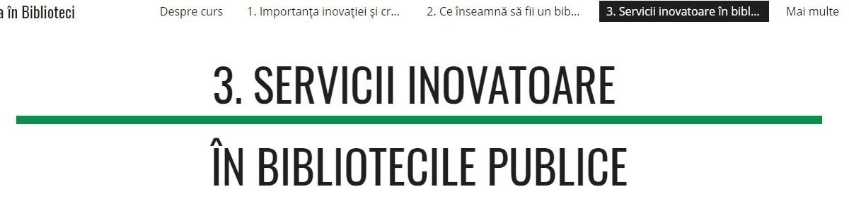 servicii inovatoare