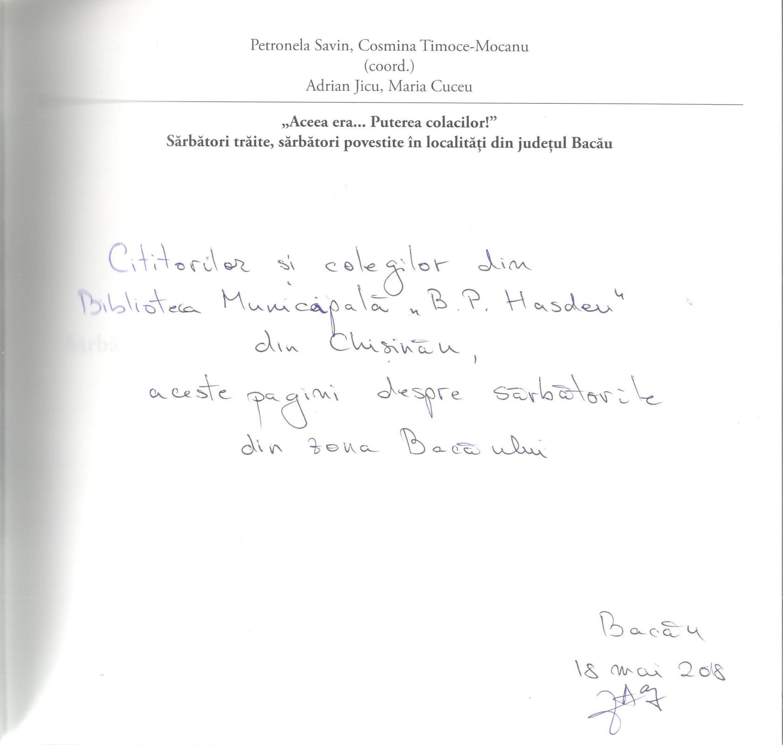 autograf Sarbatori de iarna Bacau